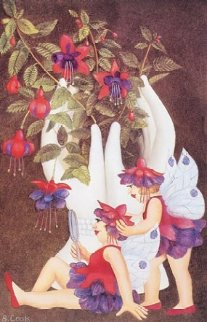 Fuchsia Fairies Limited Edition Print - Beryl Cook