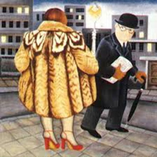 My Fur Coat 1988 Limited Edition Print - Beryl Cook