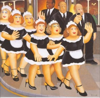 Girls Night Out 1998 Limited Edition Print - Beryl Cook