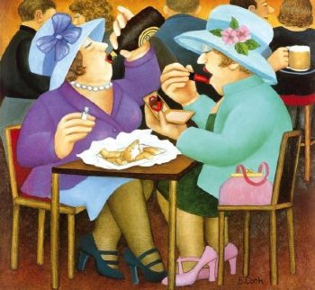 Ladies Who Lunch 2005 Limited Edition Print - Beryl Cook