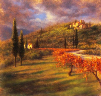 Dreams of Tuscany 2008 34x34 Original Painting - Robert  Copple