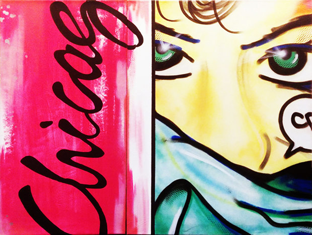 Chicago Diptych 1984 60x48