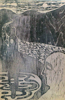 Untitled Unique 1956 Limited Edition Print - Jose Luis Cuevas
