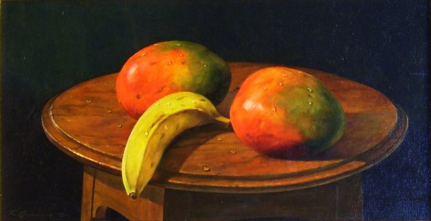 Mangos and Bananas 1991 12x24