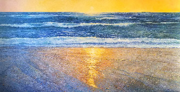 Pacifica Beach 51x96 Original Painting - Alan Curtis