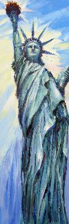 Proud of Liberty 36x12 Original Painting - Roman Czerwinski