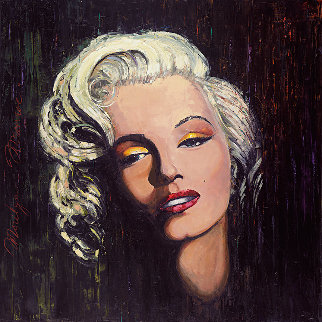 Marilyn - Golden Star 2014 48x48 Original Painting - Roman Czerwinski