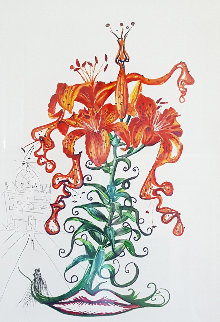 Tiger Lillies (Mustache) Musca Figueras 1972 Limited Edition Print - Salvador Dali