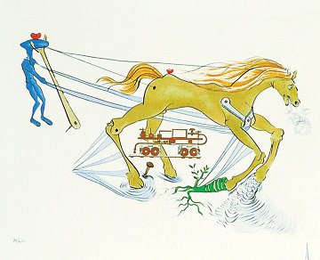 l'Frein Hydraulique (Hydraulic Brake) 1975 Limited Edition Print - Salvador Dali