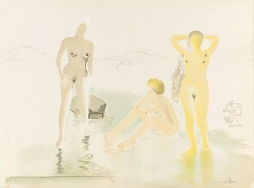 Three Graces of Cova D'Or 1975 Limited Edition Print - Salvador Dali