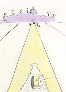 Dieu, Le Temps, l'espace Et Le Pape (God, Time, Space And the Pope) 1974 Limited Edition Print - Salvador Dali