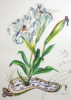 Florals Lillies Montre Molle 1972 Limited Edition Print - Salvador Dali