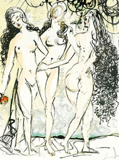Three Graces 1966 Limited Edition Print - Salvador Dali
