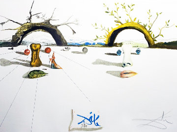 Winter And Summer 1973 Limited Edition Print - Salvador Dali