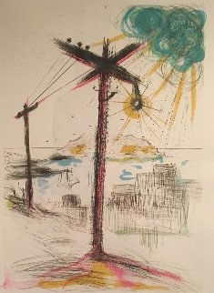Telegraph Hill 1970 San Francisco Limited Edition Print - Salvador Dali