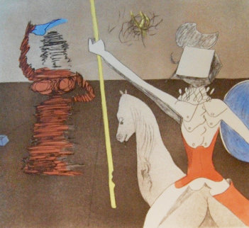 Off to Battle 1980 Limited Edition Print - Salvador Dali