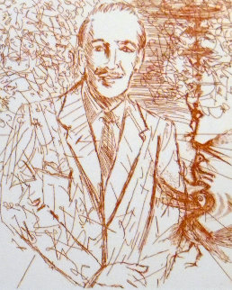 Walt Disney 1968 Limited Edition Print - Salvador Dali
