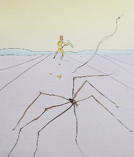 Japanese Fairy Tale the Weaver Spider 1976 Limited Edition Print - Salvador Dali