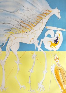 Conquest of Cosmos Saturnian Giraffe 1974 Limited Edition Print - Salvador Dali