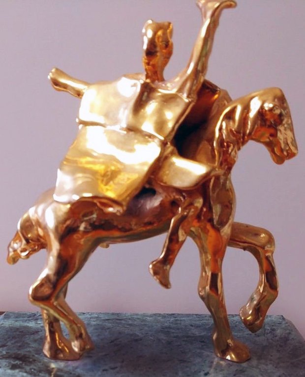 Trajan on Horseback Sculpture 1974 8 in