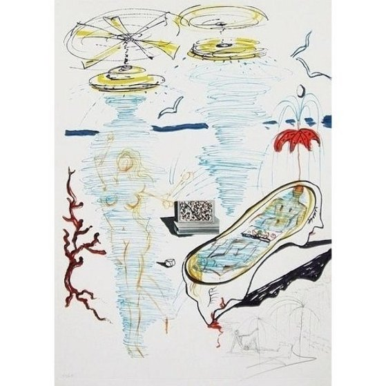 Imaginations & Objects of the Future: Liquid Tornado Bath Tub 1975 Limited Edition Print by Salvador Dali