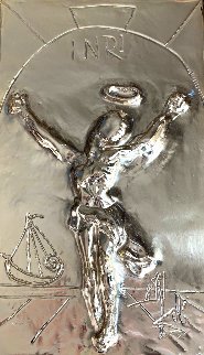 Christ of St. John on the Cross Gold  bas Relief Bronze Sculpture HC 1974  Sculpture - Salvador Dali