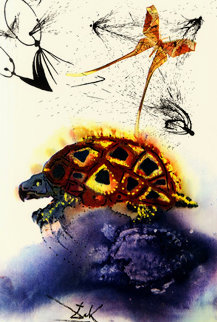 Mock Turtle\'s Story: Alice in Wonderland Suite 1984 Limited Edition Print - Salvador Dali