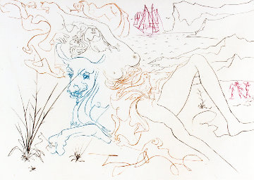 Famous Loves Suite: The Bull 1972  Limited Edition Print - Salvador Dali