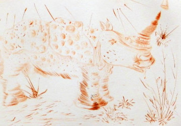 Album Rhinoceros 1968 (Early) Endangered Species Limited Edition Print - Salvador Dali