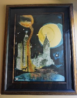 Manhattan Skyline 1976 Limited Edition Print - Salvador Dali