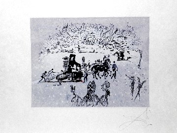 Tauramachies Surrealiste the Piano in the Snow 1970 (Early) Limited Edition Print by Salvador Dali