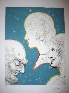 Marquis de Sade Merville and His Sons Reunited 1969 Limited Edition Print - Salvador Dali