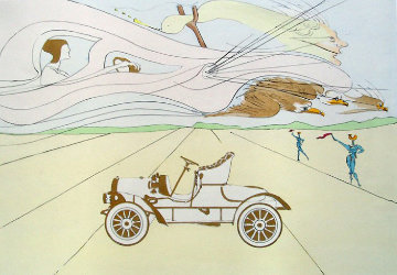 Invention of the Automobile (Hommage a Leonardo Da Vinci) 1975 Limited Edition Print - Salvador Dali