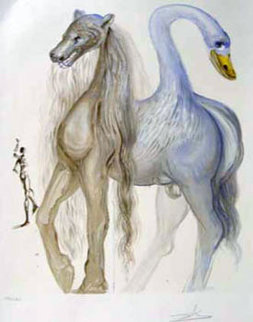 Dalinean Horses   Horace's Chimera 1972 Limited Edition Print - Salvador Dali