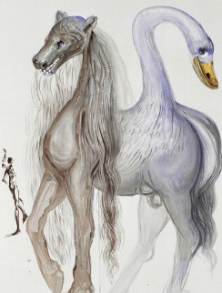 Dalinean Horses: Horace's Chimera 1972 Limited Edition Print - Salvador Dali