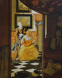 Changes in Great Masterpieces Vermeer 1974 Limited Edition Print - Salvador Dali