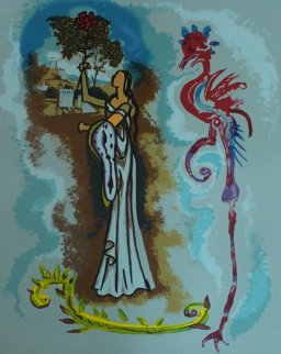 Rowena, From Ivanhoe 1978 Limited Edition Print - Salvador Dali