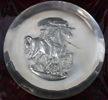 Unicorn Dyonisiaque Silver Medallion 1971 Other - Salvador Dali