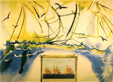 Currier and Ives American Yachting Scene 1971 Limited Edition Print - Salvador Dali
