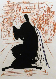 La Vida Es Sueno Figure in an Ermine Cloak 1973 Limited Edition Print - Salvador Dali