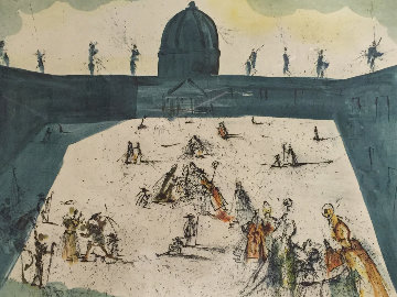 Place St Pierre De Rome 1974 Limited Edition Print - Salvador Dali