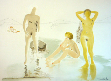 Three Graces of Cova d'Or 1975 Remarque Limited Edition Print - Salvador Dali
