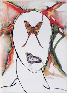 Papillon Series: Kabuki  Dancer  Limited Edition Print - Salvador Dali