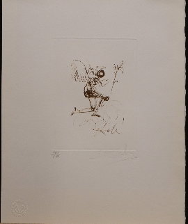 Symbols Guiding Angel 1970 (Early) Limited Edition Print - Salvador Dali