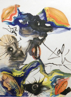 Butterfly and the Lips  1971 Limited Edition Print - Salvador Dali
