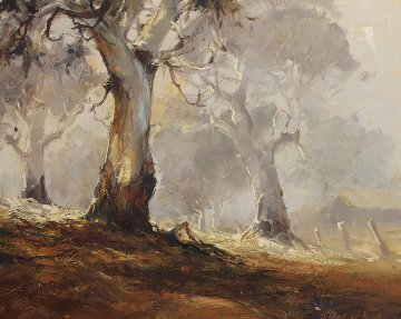 Ghost Gums 1972 15x12 Original Painting - d'Arcy Doyle