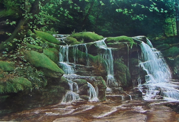 Buttermilk Falls Limited Edition Print - David Armstrong