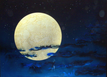 Full Moon 1993 36x48 Original Painting - Dave Archer