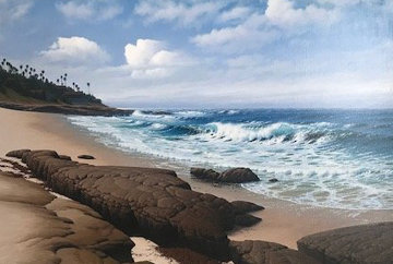 South Wind, La Jolla 33x45 Original Painting - David Dalton