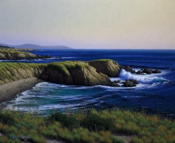 \<br /\>Cliffs Near Piedras Blancas Point 2010 24x20 San Diego Original Painting - David Dalton